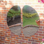 Curvy Outdoor Mirrors Pack of 2